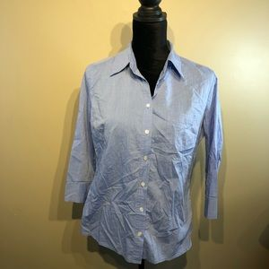 New York & Company 3/4 sleeve button up size M